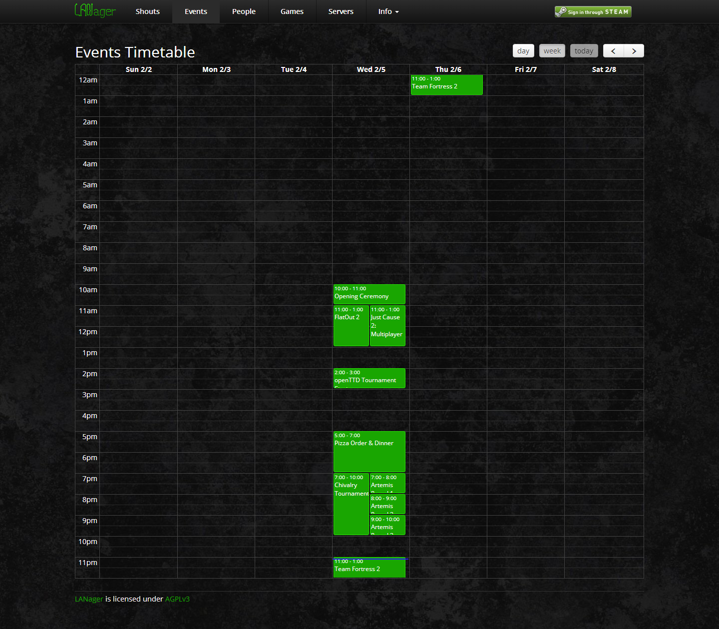 Timetable (Week View)