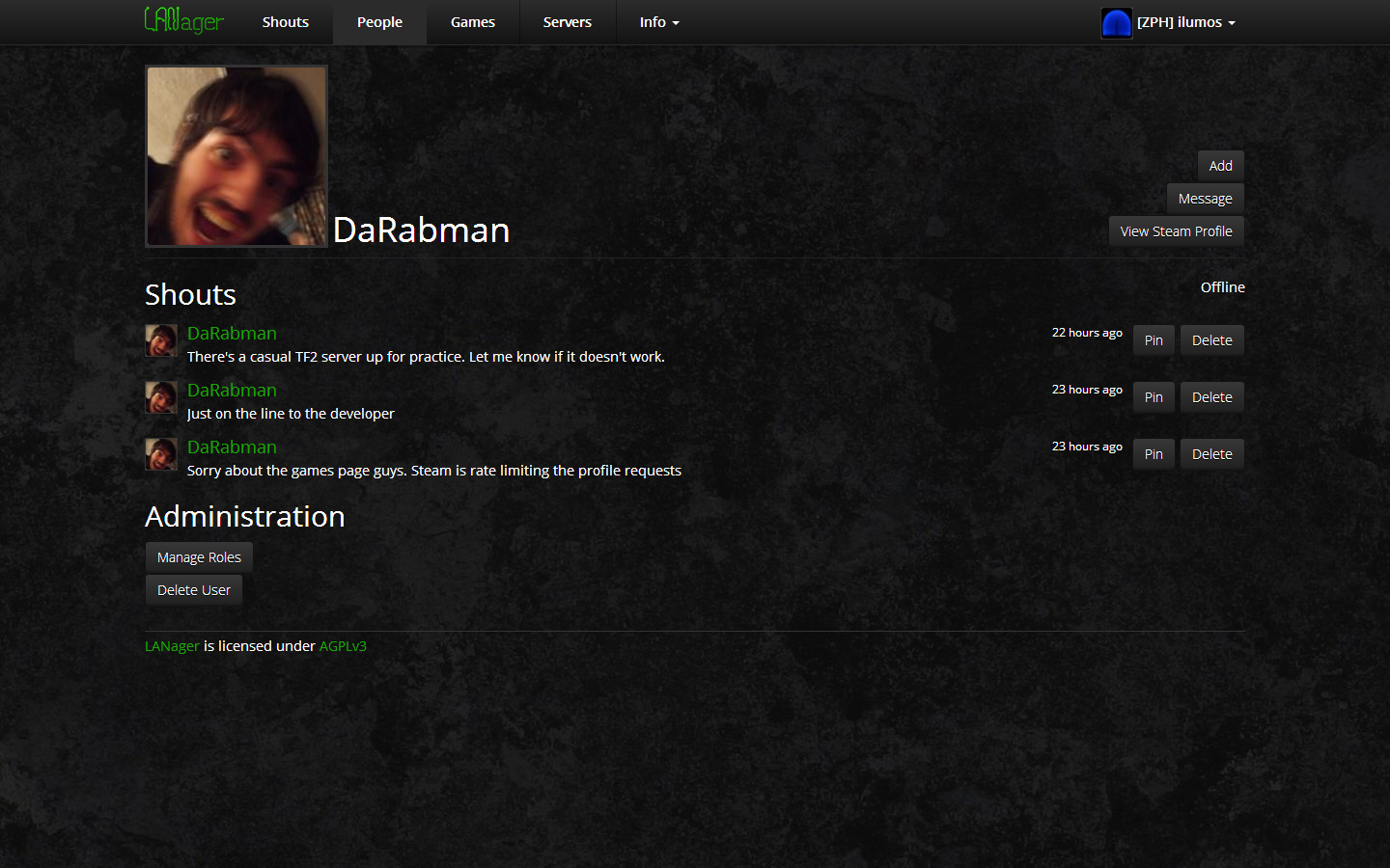 Profile (Admin View)